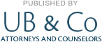 Published by UB & Co. Attorneys and Counselors